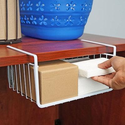 Southern Homewares White Wire Under Shelf Basket