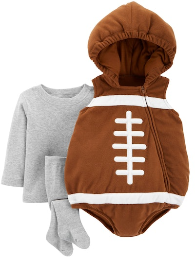 Image of a baby's football halloween costume.