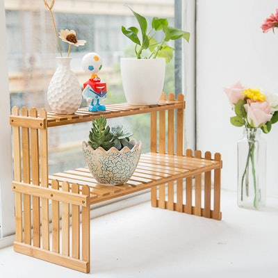 MyGift Tabletop Plant Stand