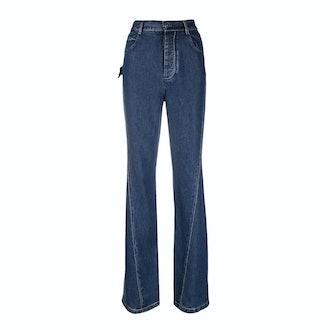 Bottega Veneta High-Waisted Bootcut Jeans
