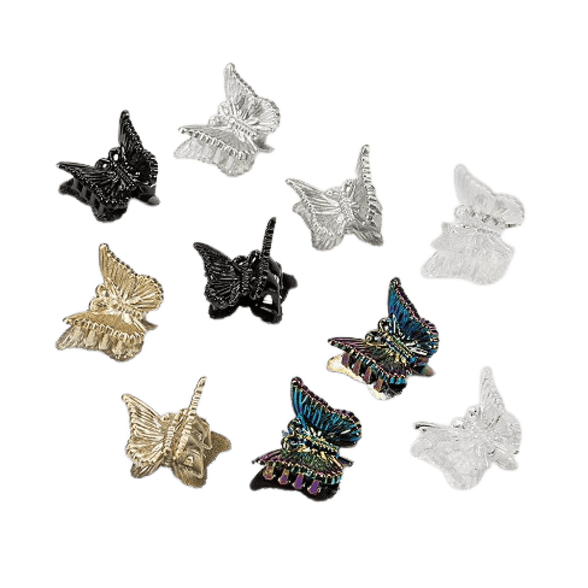 Butterfly Claw Clip Set 10pc