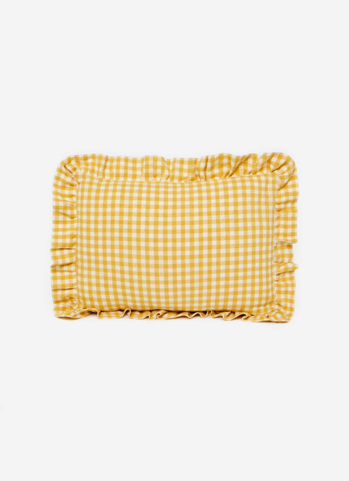 Mini Gingham Sunflower Petite Pillow