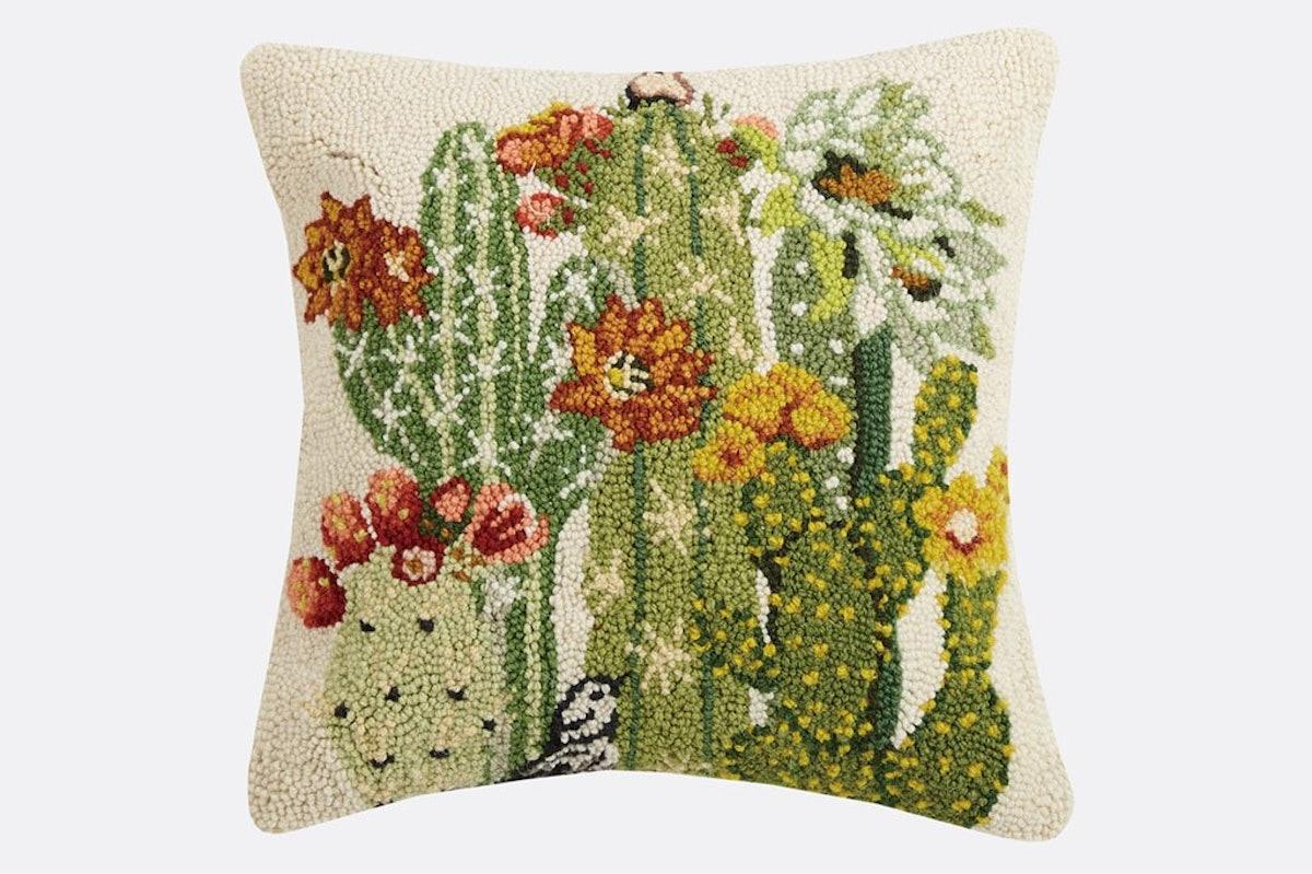 Southwest Summer Hooked Pillow