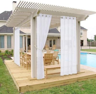 NICETOWN Waterproof Sheer Patio Curtain