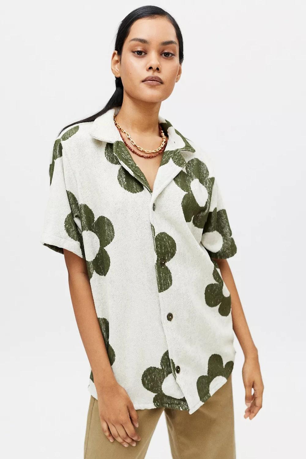 Cuba Terry Button-Down Shirt