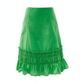 Molly Goddard Fernanda Gathered Taffeta Skirt