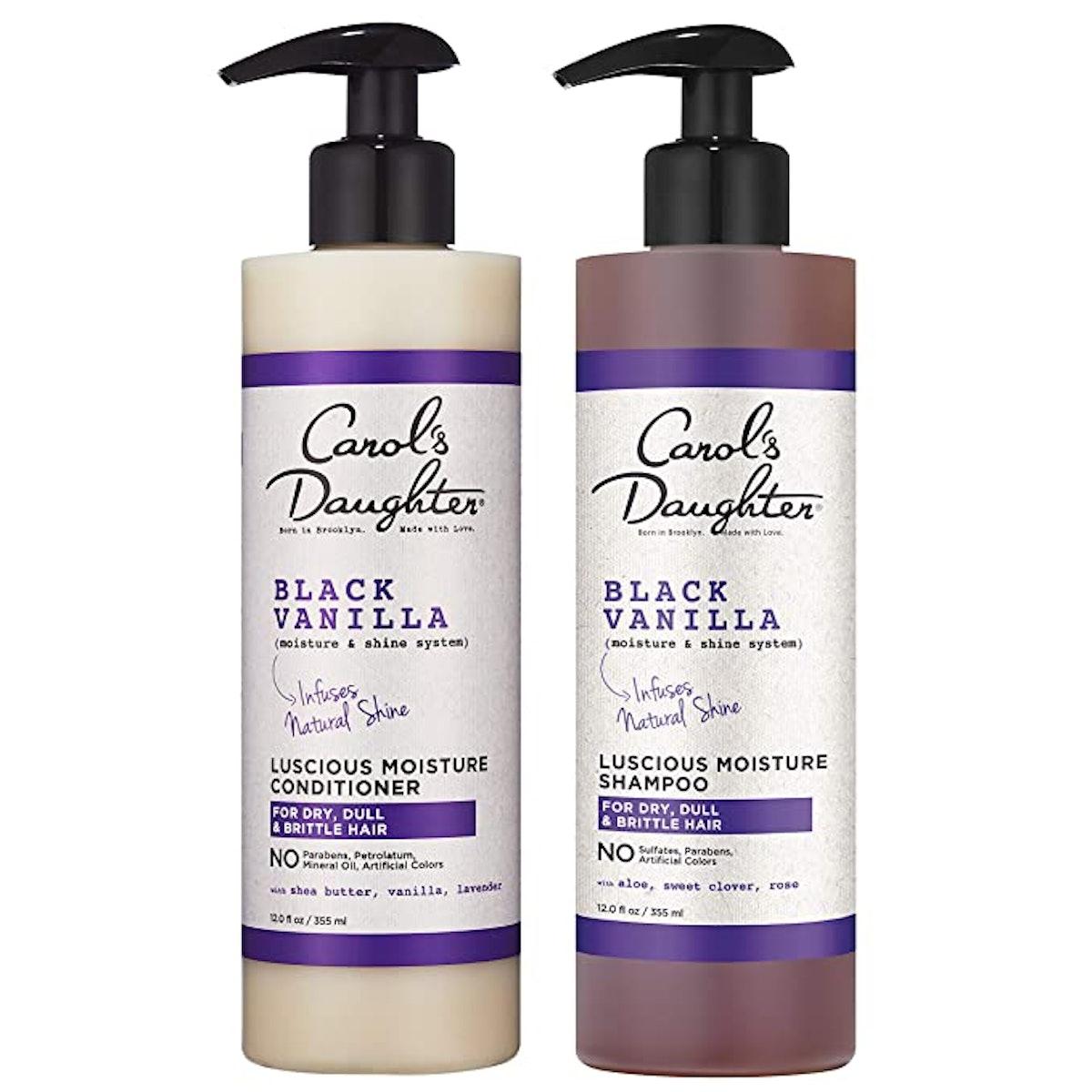 Carol's Daughter Black Vanilla Moisture and Shine Shampoo and Conditioner Set