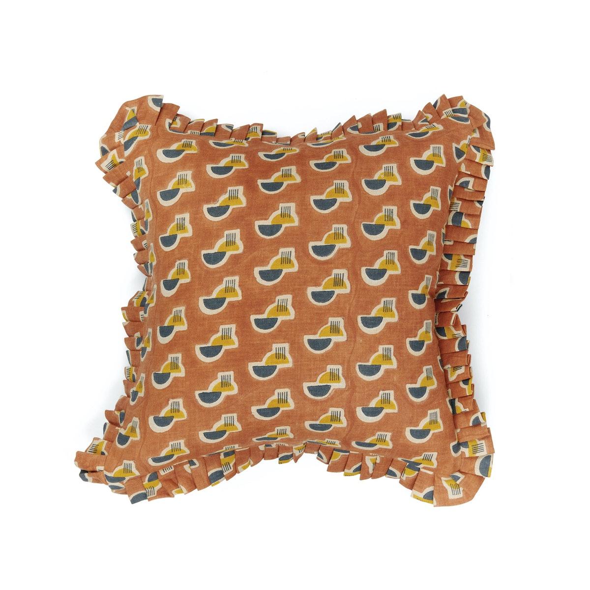 Raj Mandir Pillow | Ruffle