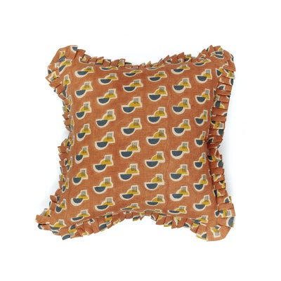 Raj Mandir Pillow   Ruffle