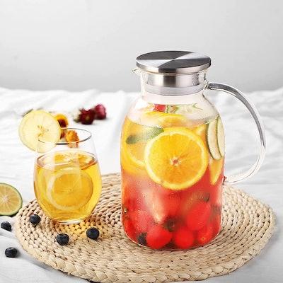 oneisall Heat-Resistant Glass Beverage Pitcher