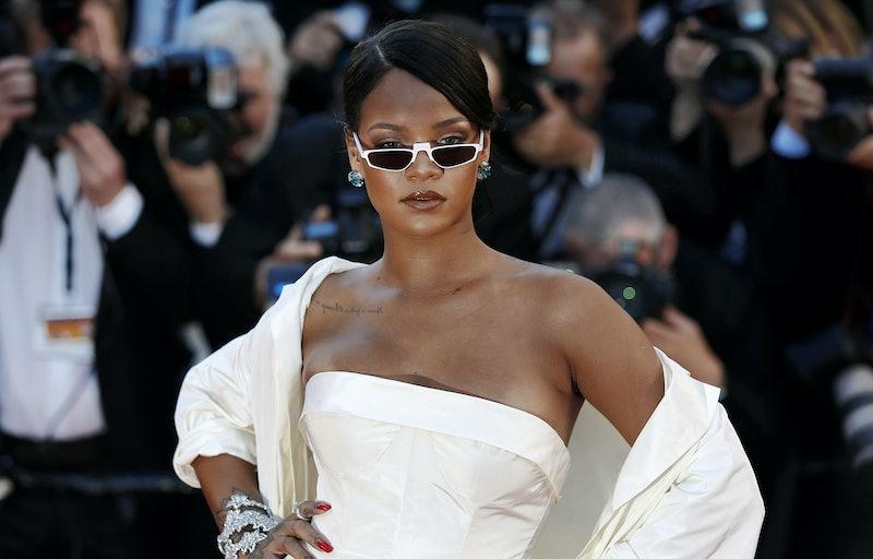 Rihanna on the red carpet.