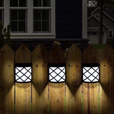 GIGALUMI Solar Fence Lights (4-Pack)