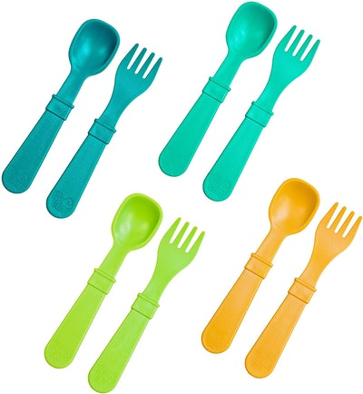 RE-PLAY Toddler Feeding Spoon & Fork Set (8 Pieces)