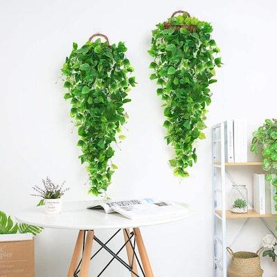 AGEOMET Artificial Hanging Plants (3 Pieces)
