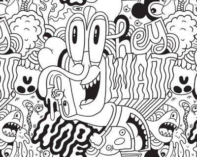 Illustration of abstract cartoon characters