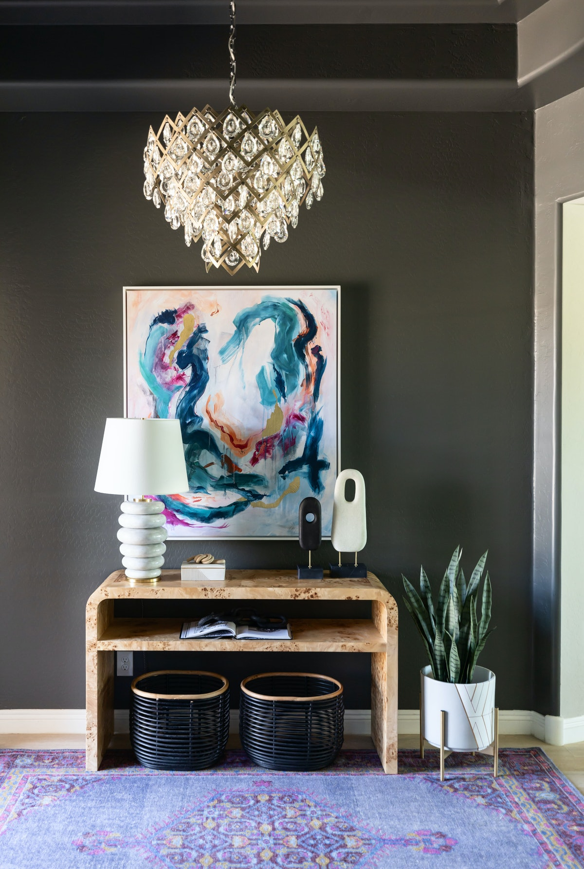 rooms with black walls