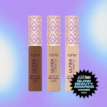 A product shot of Tarte's Ultra Creamy Shape Tape Concealer, the Best Concealer winner of Elite Dail...