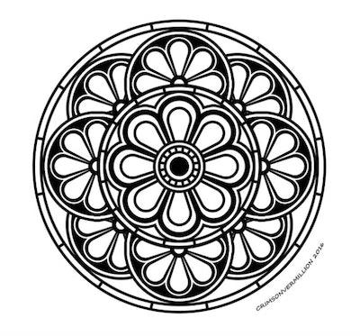 Illustration of a mandala
