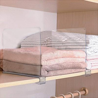 Sorbus Acrylic Shelf Dividers (6-Pack)