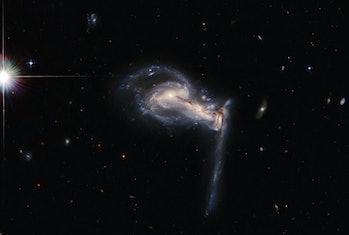 three galaxies hubble image