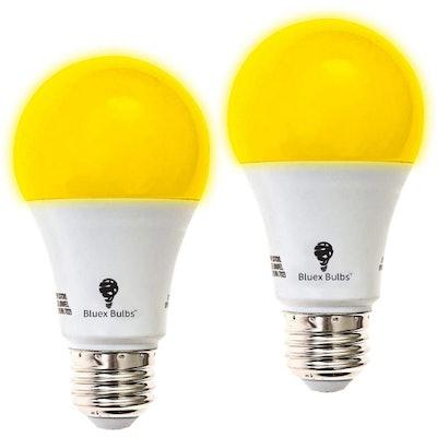 BlueX Bulbs Amber Yellow LED Bug Light Bulb (2-Pack)