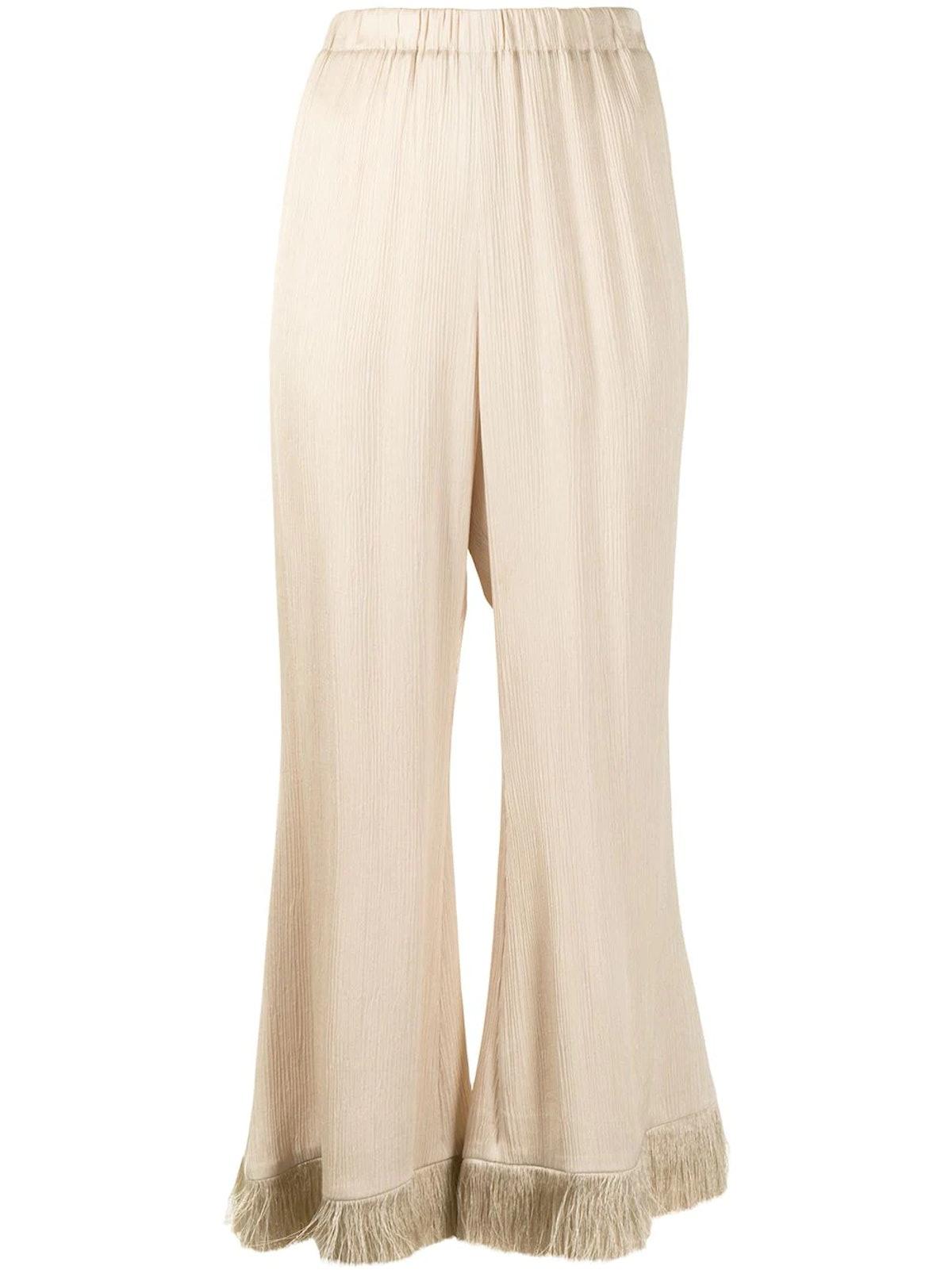 Muller Of Yoshiokubo fringe pants.