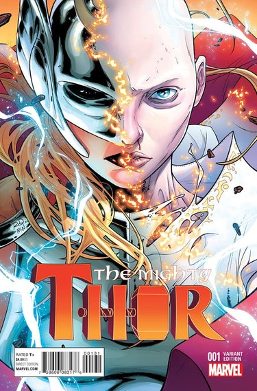 Εξώφυλλο ποικιλίας Russell Danterman για το Mighty Thor #1 (2015).