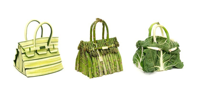 Hermès' vegetable Birkin bag art