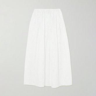 Matteau Broderie Anglaise Organic Cotton-poplin Skirt