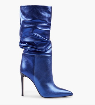Slouchy metallic boots