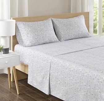 Comfort Spaces 100% Cotton Percale Sheet Set (4 Pieces)