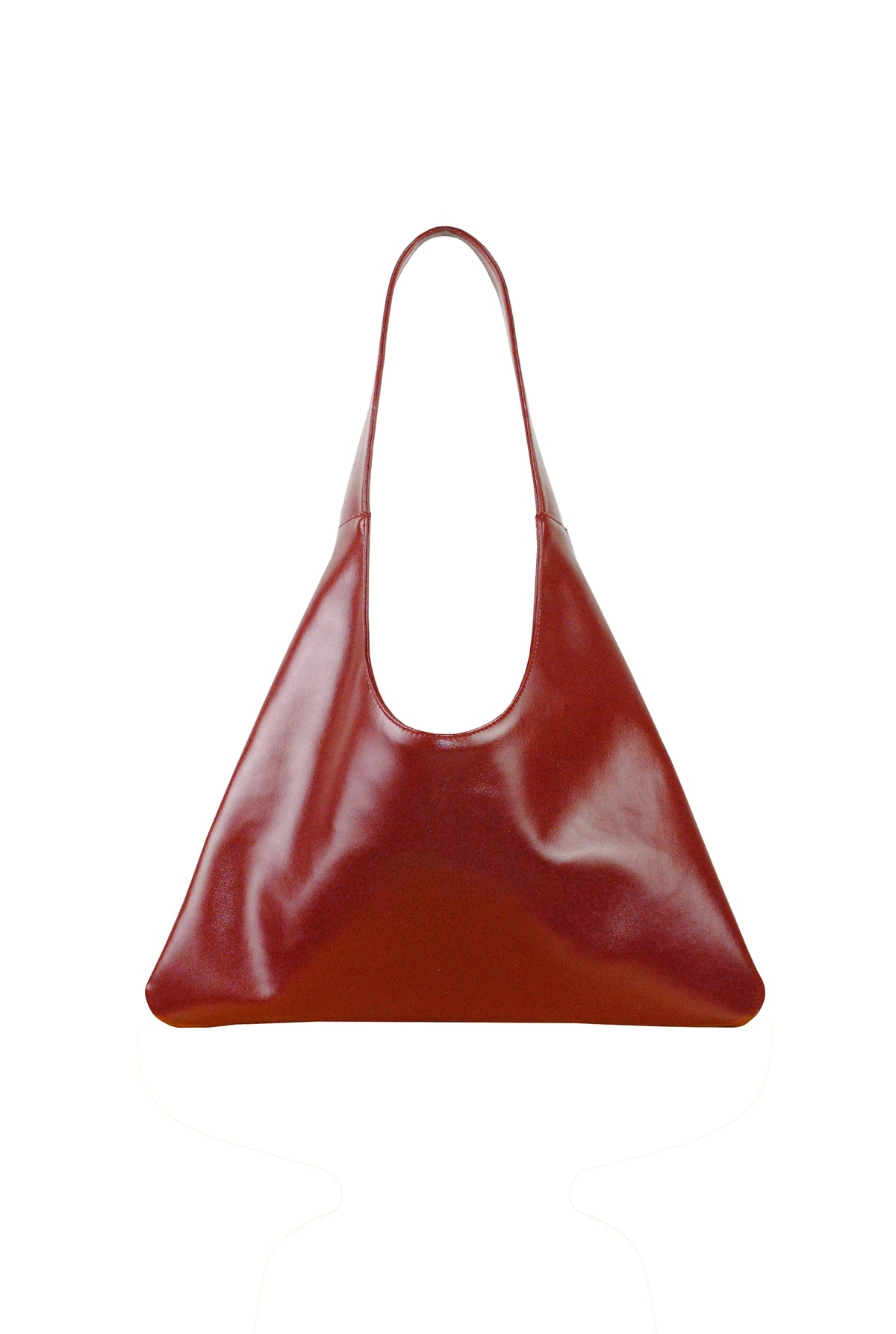 Santos Agave Triangular Tote in Red