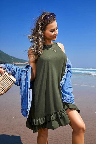 Beyove Summer Beach Dress with Pockets