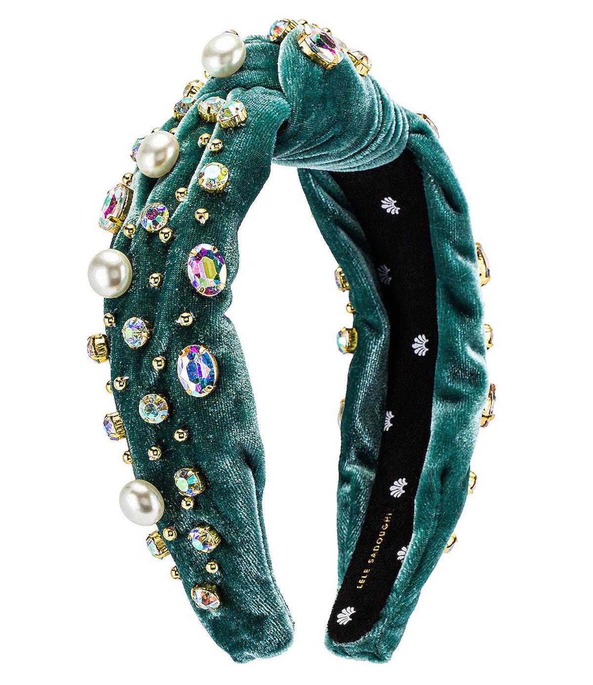 Oversized Pearl & Crystal Headband