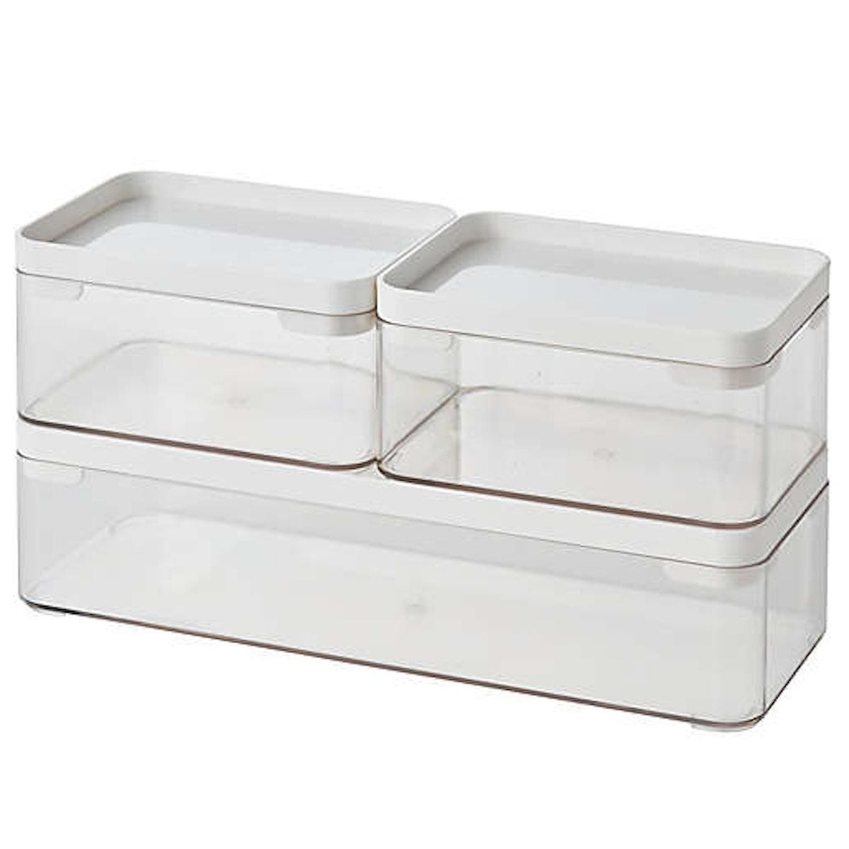 Simply Essential Stackable Bath Storage Bins (Set of 3)