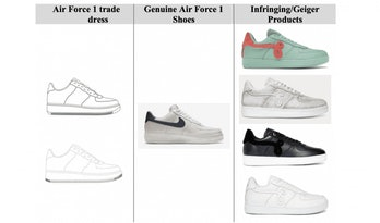 Nike v John Geiger Co legal document comparison