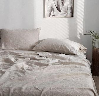 Simple&Opulence 100% Linen Sheet Set (4 Pieces)