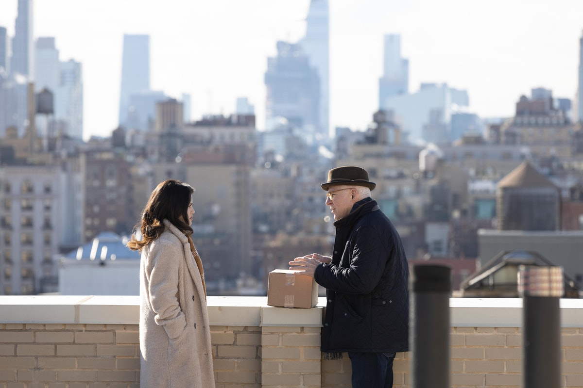 Mabel (Selena Gomez) and Charles (Steve Martin) are investigating the wrong muder in 'Only Murders I...