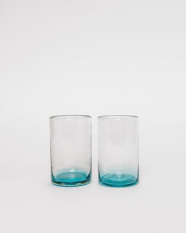 Xela Turquoise Glass Set - Tall