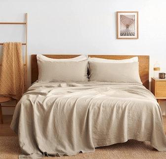Bedsure Linen Sheet Set (4 Pieces)