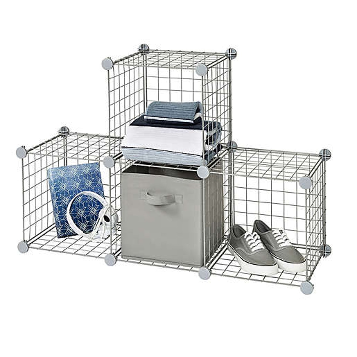 Relaxed Living 12-Inch Wire Cube Grid in Grey