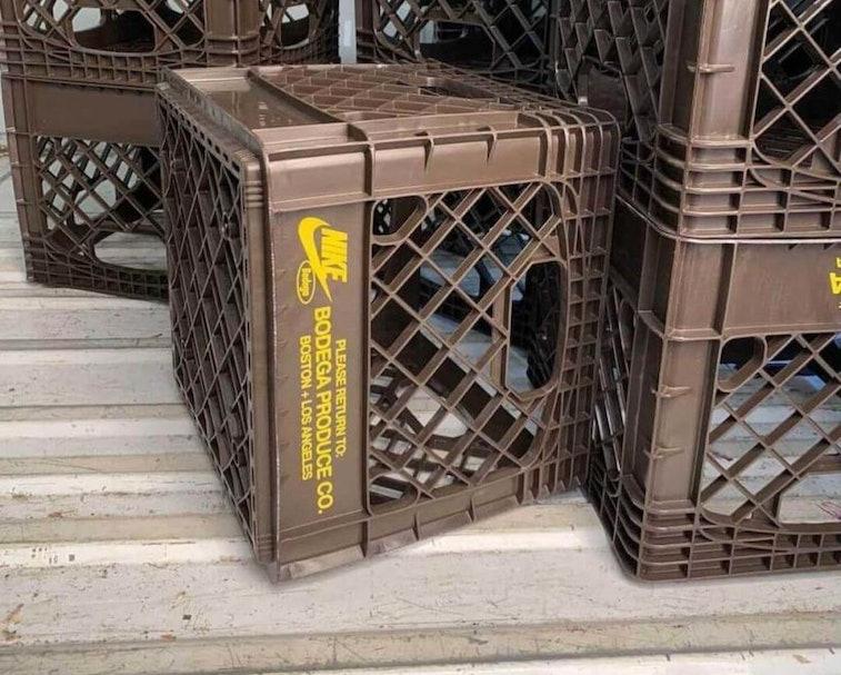 Bodega x Nike co-branded milk crates