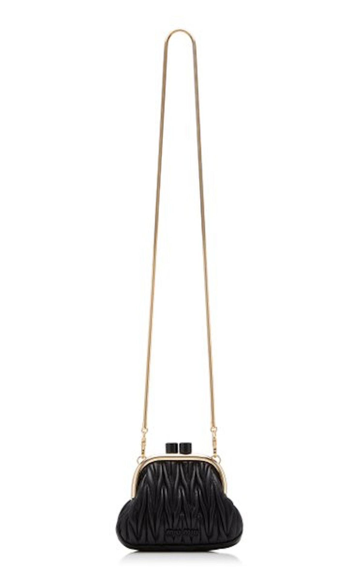 Miu Miu Belle Nappa Leather Bag