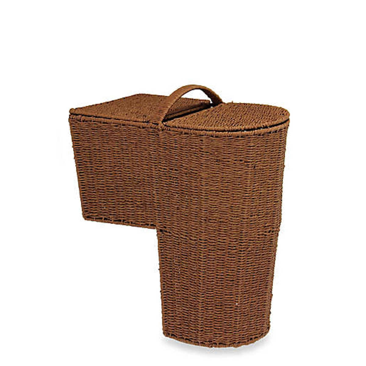 Household Essentials Rounded Paper Rope Stairstep Basket