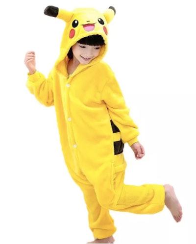 Child wearing Pikachu costume