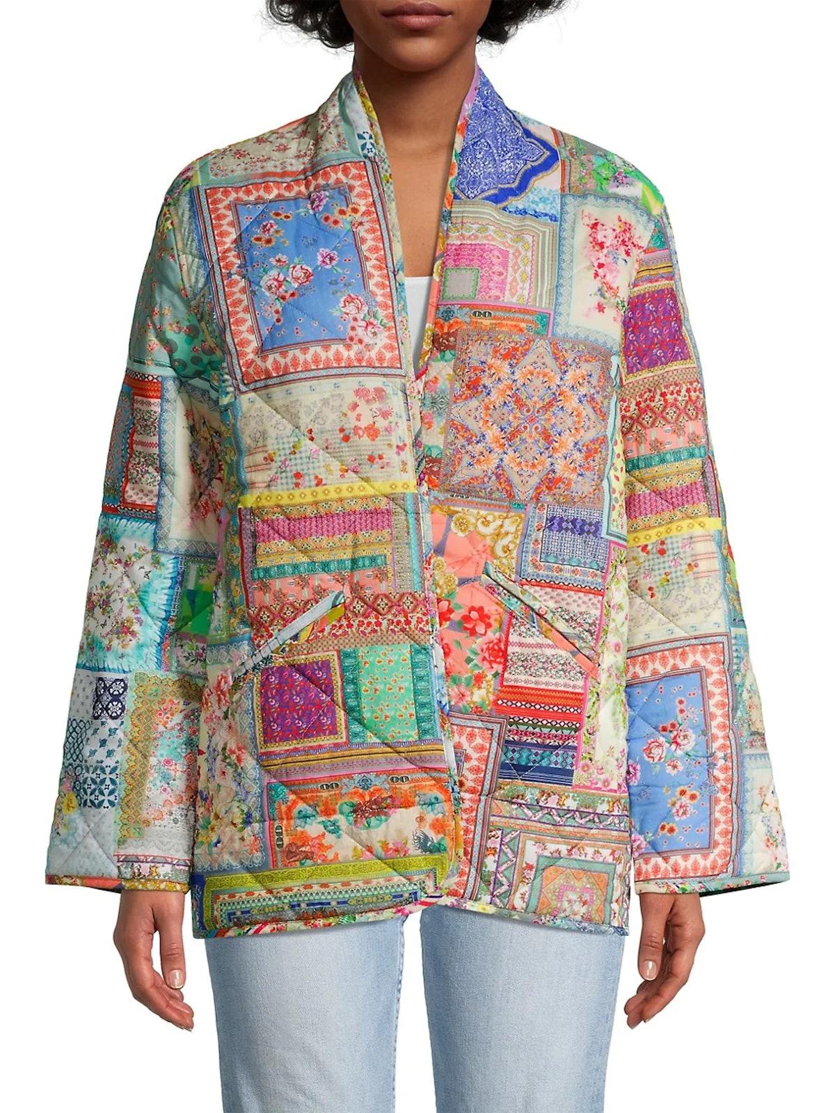 Annika Quilted Patchwork Jacket