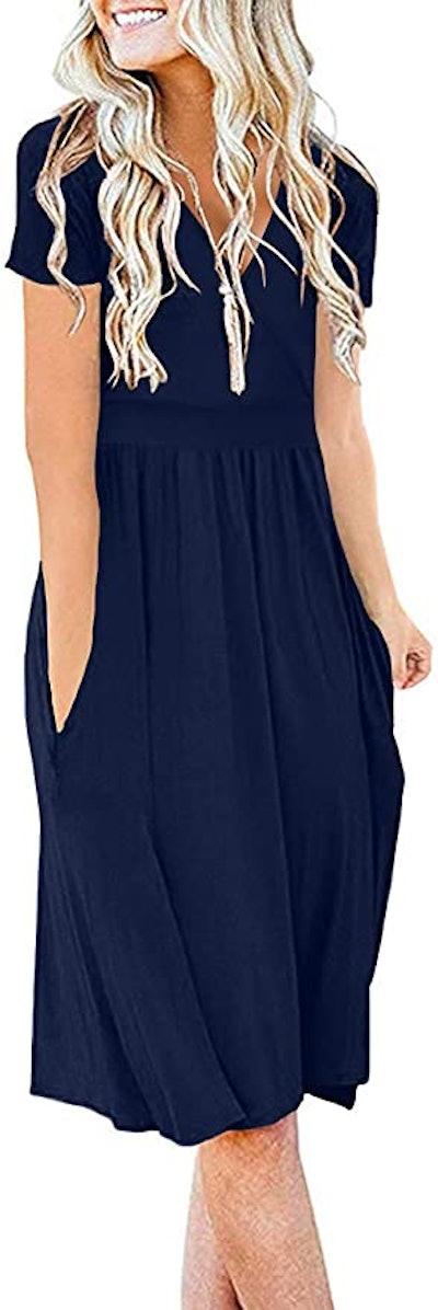 DB MOON Casual Short-Sleeve Dress