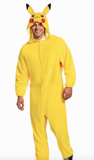 Man wearing Pikachu costume