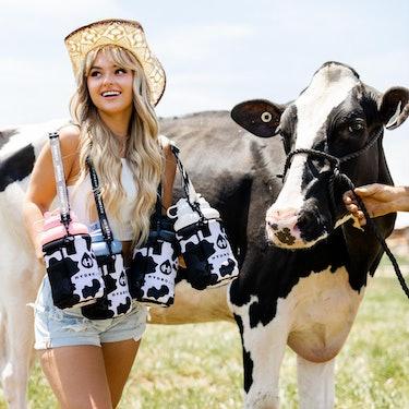 hydrojug gallon water bottle cow print