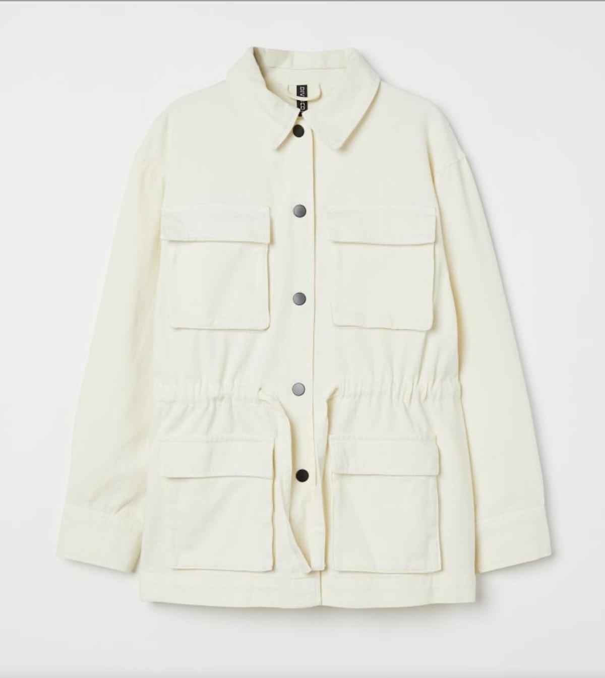 H&M Cotton Twill Utility Jacket.